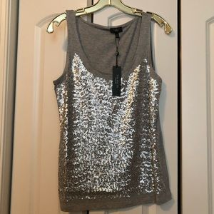 Talbots Great Looking Silver Sequin Top